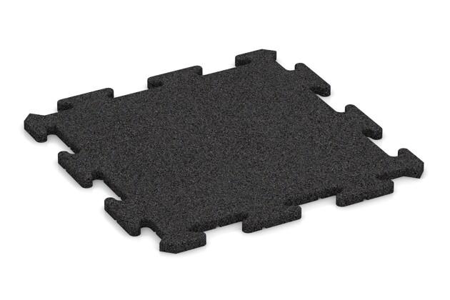 Tapis sportif pour protection de sol Pro de WARCO en couleur Anthracite au format 500 x 500 x 18 mm. La photo de l'article 0194 dans la vue complète de face.
