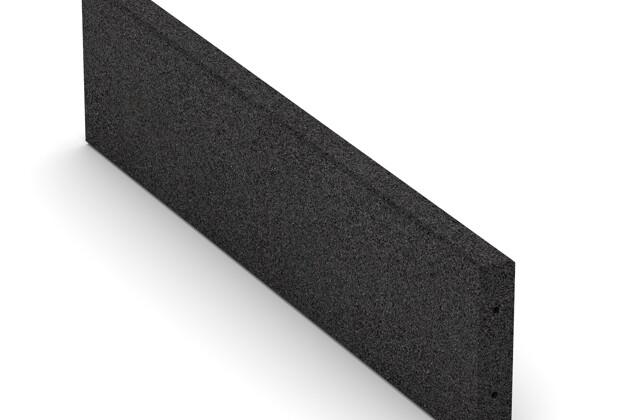 Bordure en caoutchouc (de trottoir) de WARCO en couleur Anthracite au format 1000 x 250 x 50 mm. La photo de l'article 2596 dans la vue complète de face.