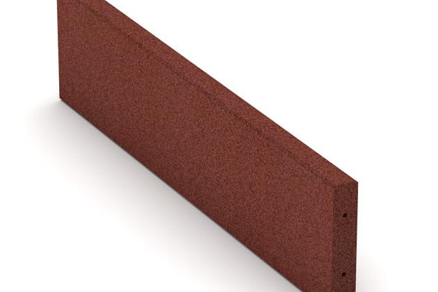 Bordure en caoutchouc (de trottoir) de WARCO en couleur Rouge brique au format 1000 x 250 x 50 mm. La photo de l'article 2591 dans la vue complète de face.