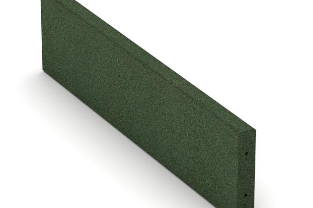 Bordure en caoutchouc (de trottoir) de WARCO en couleur Vert gazon au format 1000 x 250 x 50 mm. La photo de l'article 2594 dans la vue complète de face.