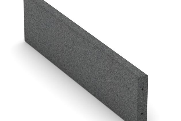 Bordure en caoutchouc (de trottoir) de WARCO en couleur Gris ardoise au format 1000 x 250 x 50 mm. La photo de l'article 2595 dans la vue complète de face.