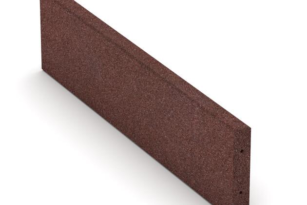 Bordure en caoutchouc (de trottoir) de WARCO en couleur Marron chocolat au format 1000 x 250 x 50 mm. La photo de l'article 2592 dans la vue complète de face.