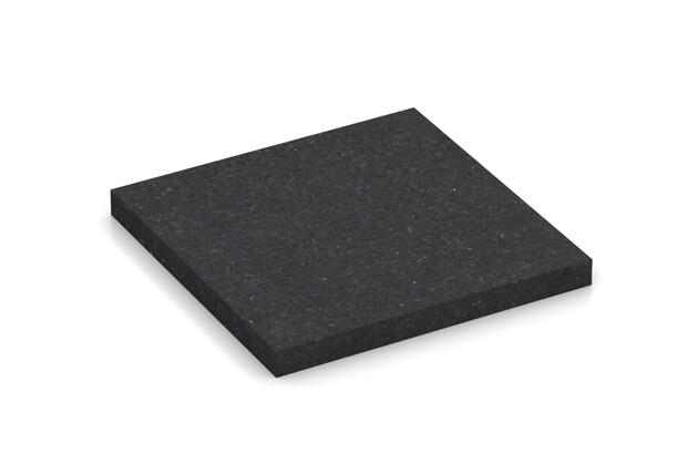 Échantillon de matériau de WARCO en couleur Anthracite mat au format 100 x 100 x 10 mm. La photo de l'article 0865 dans la vue complète de face.
