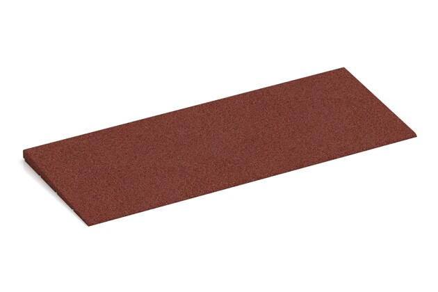 Bordure inclinée de WARCO en couleur Rouge brique au format 750 x 300 x 25/8 mm. La photo de l'article 2298 dans la vue complète de face.