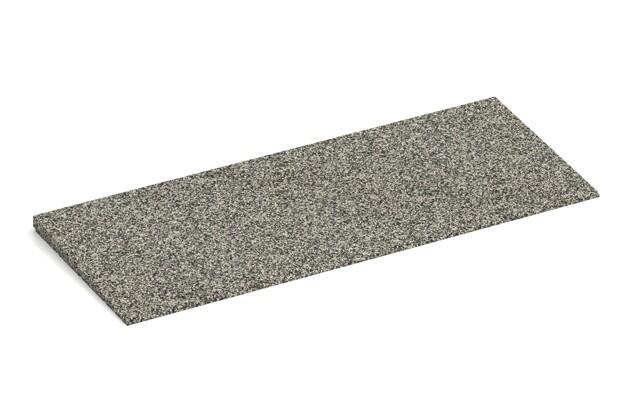 Bordure inclinée de WARCO en couleur Granit clair au format 750 x 300 x 25/8 mm. La photo de l'article 2276 dans la vue complète de face.
