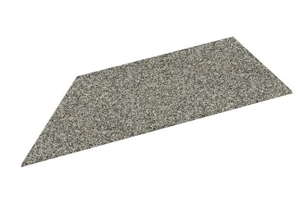 Rampe de bordure de coin gauche de WARCO en couleur Granit clair au format 750 x 300 x 25/8 mm. La photo de l'article 2104 dans la vue complète de face.