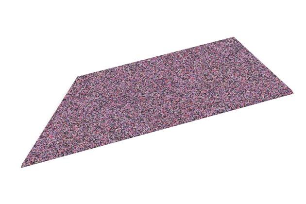 Rampe de bordure de coin gauche de WARCO en couleur Lavande au format 750 x 300 x 25/8 mm. La photo de l'article 2103 dans la vue complète de face.