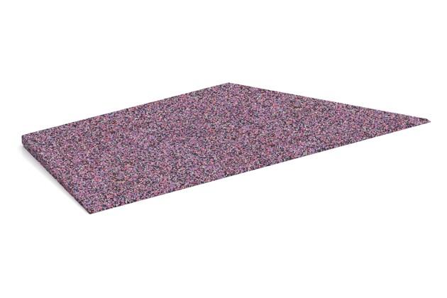Rampe de bordure de coin droite de WARCO en couleur Lavande au format 750 x 300 x 25/8 mm. La photo de l'article 1963 dans la vue complète de face.